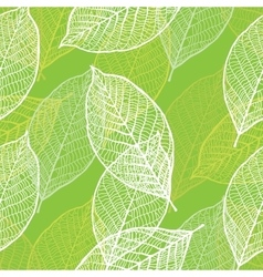 Seamless ornamental pattern with leaves vector image vector image
