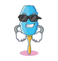 Super cool feather duster character cartoon vector