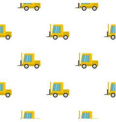 Yellow stacker loader pattern flat vector