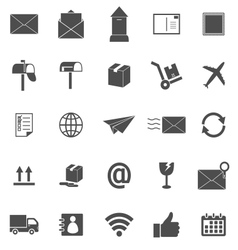 Post icons on white background vector image