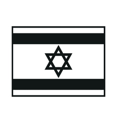 Israel flag monochrome on white background vector