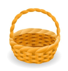 Wicker basket icon symbol vector image