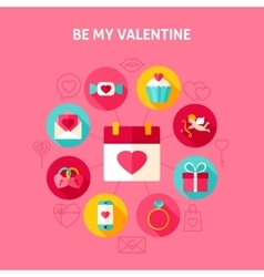 Concept be my valentine vector