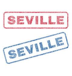 seville textile stamps vector image