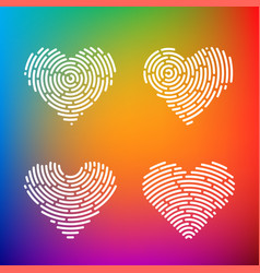 Heart finger print vector