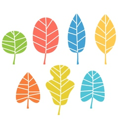 Autumn leaves collection isolated on white vector
