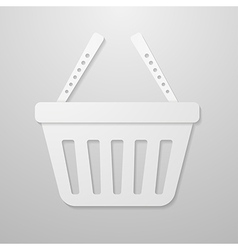 Paper icon of shopping cart vector