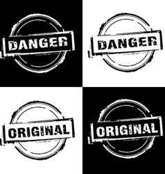 Danger original free rubber stamp vector