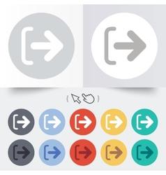 Logout sign icon log out symbol arrow vector