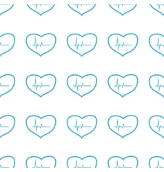 Unique heartbeat seamless pattern vector