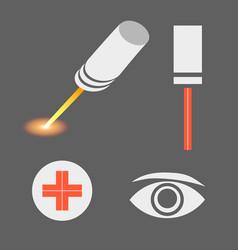 Set of laser medicine icons EPS 10 vector image