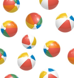 Colorful beach balls seamless pattern vector