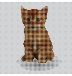 Screw design - kitten vector