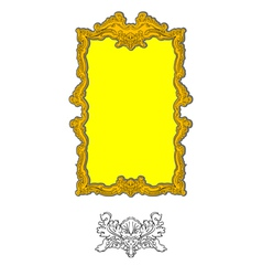 Authentic rococo ornament vector