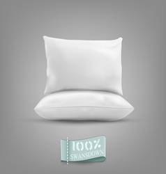Two pillow isolated on a gray background vector