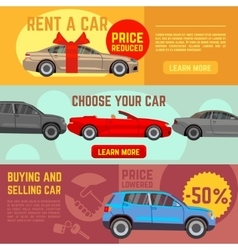Buying and selling car banners set vector