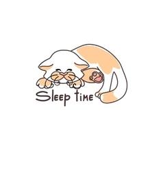 Picture cute sleeping kitten vector