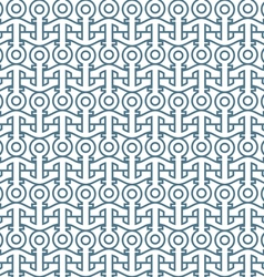 Delicate seamless pattern with anchors vector
