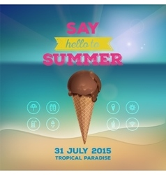 Summer poster with ice cream vector