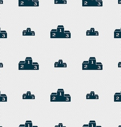 Podium icon sign seamless pattern with geometric vector