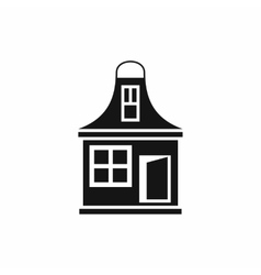 Small house icon simple style vector