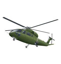air force helicopter vector image