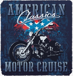american classic motor cruise vector image vector image