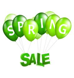 Balloons spring sale vector