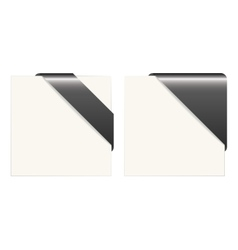 Black and white paper corners vector image