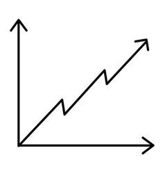 business diagram growth arrow profit finance vector image vector image