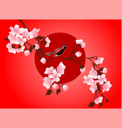 cherry blossom art picture sakura flower vector image