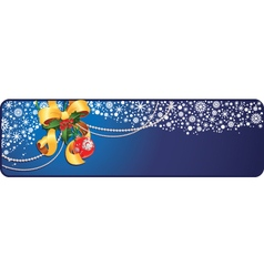 Christmas banner with copy-space vector image