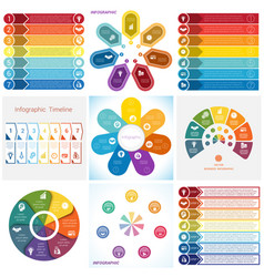 Collections infographics elements template 7 vector