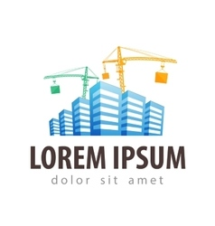 Construction site building site logo vector