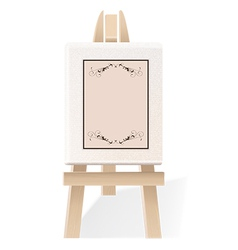 Decorative wooden easel vector image vector image