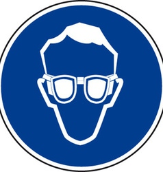 Eye protection must be worn sign vector