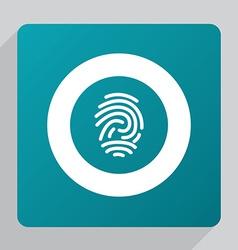 Flat fingerprint icon vector