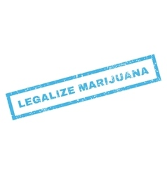 Legalize marijuana rubber stamp vector