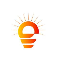 Light bulb abstract logo vector