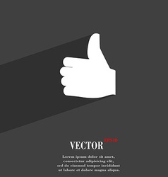 Like thumb up icon symbol flat modern web design vector