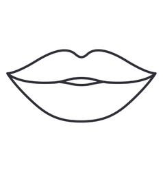 Lips and mouth cartoon design vector