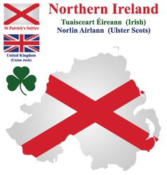 Northern ireland flag vector