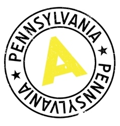 Pennsylvania stamp rubber grunge vector