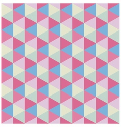 Retro colored modern hexagon pattern vector image vector image
