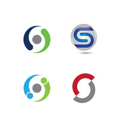 s letter logo template design vector image vector image