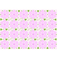 Seamless abstract floral pattern background vector image