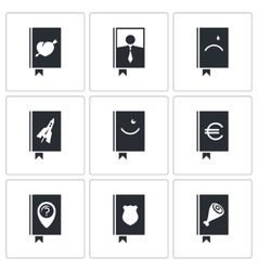 Specialized face book icon set vector