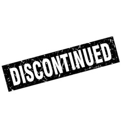 Square grunge black discontinued stamp vector