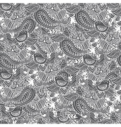Vintage floral hand drawn seamless pattern vector image vector image