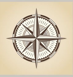 vintage old antique nautical compass rose vector image vector image